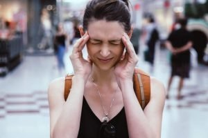 Aerofobia - Mujer con ataque de ansiedad