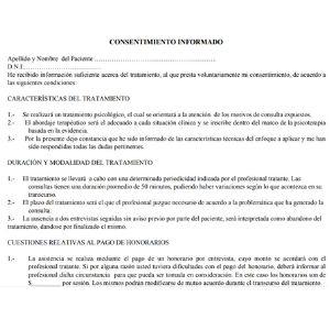 modelo de consentimiento informado 2