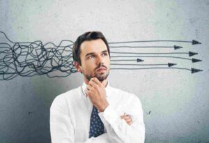Regulación emocional - Hombre pensando