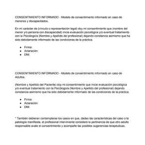 Modelo simple de consentimiento