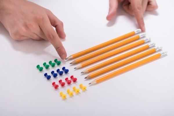TOC - Elementos ordenados por colores