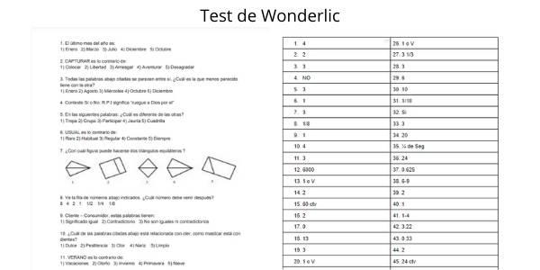 Test de Wonderlic