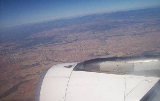 foto ventana de un avión