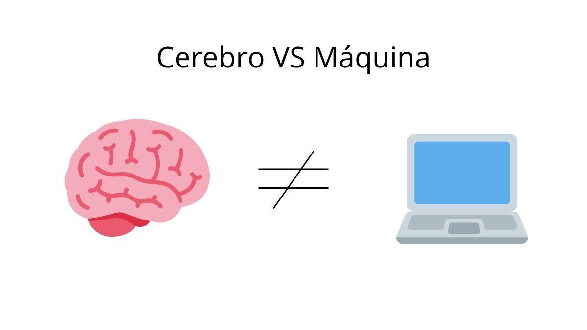 cerebro humano vs maquina enfrentados