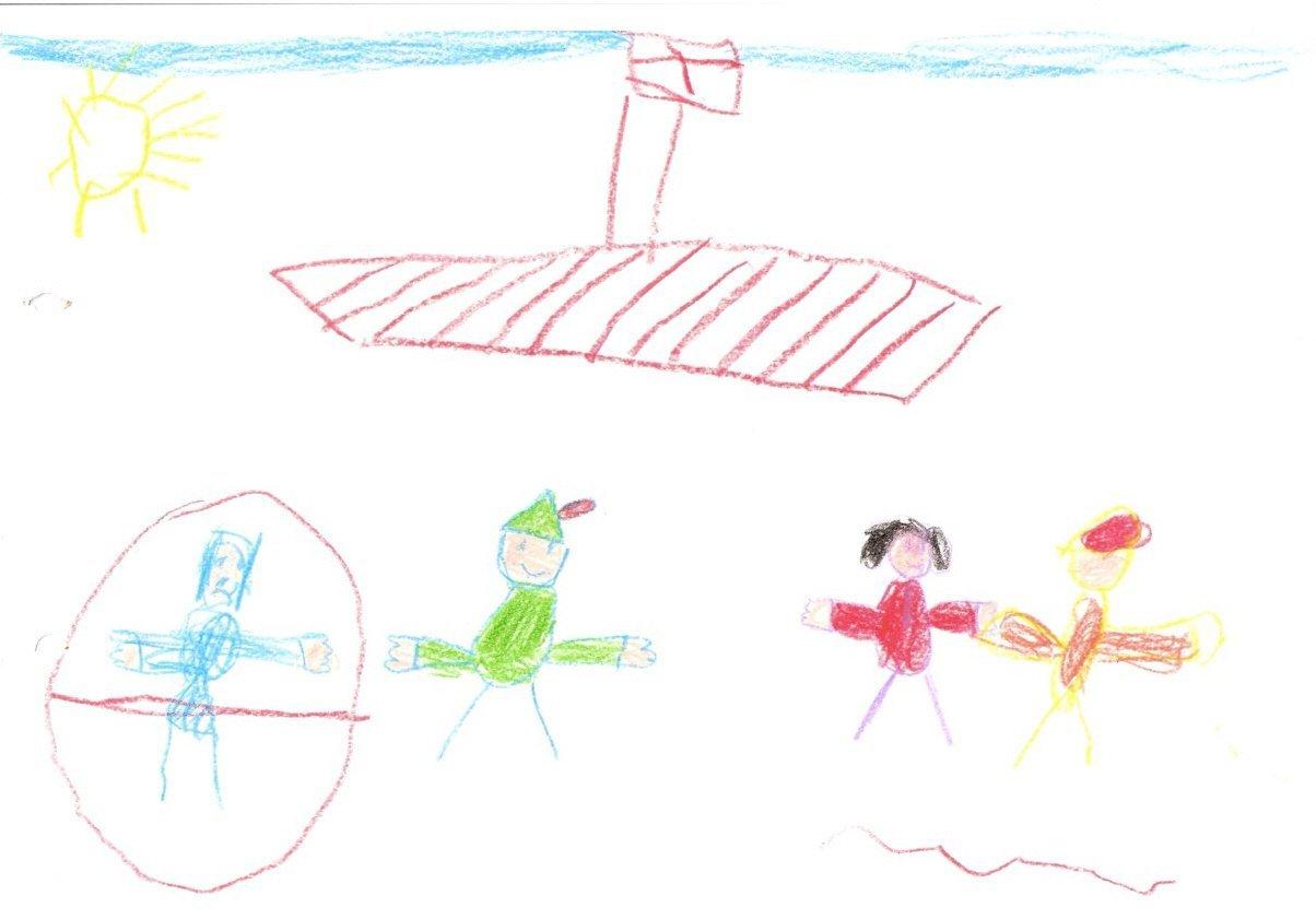 Dibujo de niños de 6 años