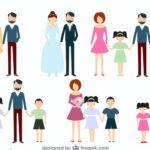 ilustracion de familia ensambladas