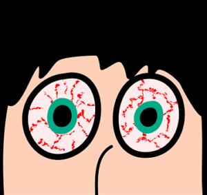 ojos con sangre
