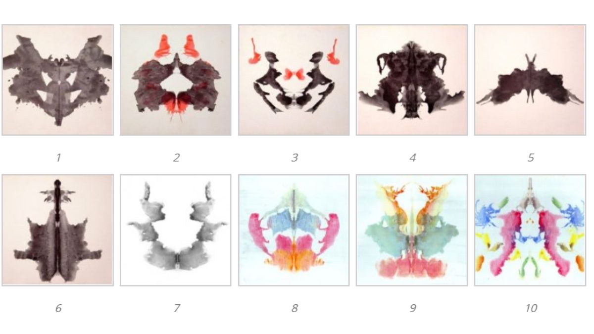 10 laminas del test de Rorschach